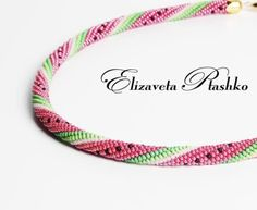 Bead Crochet:  watermelon pattern.  #Seed #Bead #Tutorials by Robert N Mary Sharpe