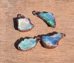1 Piece Amazing Raw Rough Opal Gemstone Pendant,Natural Opal Necklace,Vintage look Rough Opal Pendant Jewelry,Electroformed Pendant LE077 by LeejewelCreations on Etsy