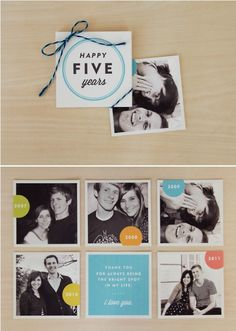 Cute little anniversary photo craft for couples