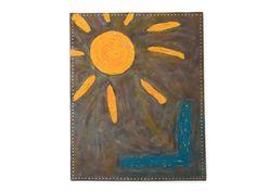 original modern wall art sunny abstract mixed media painting by Kreativprodukte, Mixed Media Painting, Modern Wall Art, My Etsy Shop, The Originals, Artwork, Golden Highlights, Creative Products, Sun Rays, Modern Art