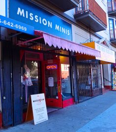 outside Mission Minis in San Francisco