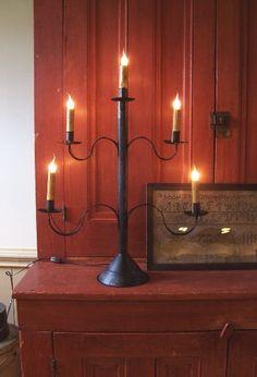 Colonial lighting.