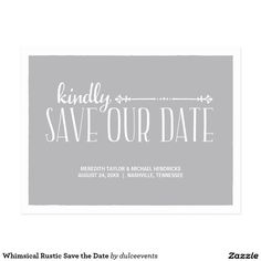 Whimsical Rustic Save the Date