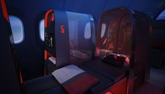 Athlete's Plane | Teague + Nike. Nike is at it again, this time with an incredible plane designed around the needs of the travelling professional sports team. Very, very cool...
