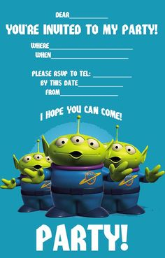 Best Gift Ideas Blog: FREE Toy Story Woody and Buzz Lightyear Party Invitation Printable