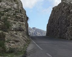"Carretera de Sa Calobra, Spain - photos from dangerousroads;  ""The road, designed by the Spanish engineer Antonio Parietti, was built in 1932 manually, without the help of any machine."""