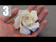 Part3/3 : How to fold Naomiki Sato Origami Rose (Pentagon Rose) 佐藤直幹 摺紙玫瑰教學. Link download: http://www.getlinkyoutube.com/watch?v=lRMoQY3NK3s