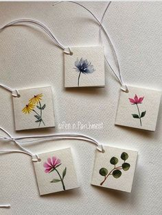 Watercolor Bookmarks, Watercolor Cards, Watercolor Flowers, Watercolor Paintings, Pineapple Watercolor, Watercolours, Creative Bookmarks, Diy Bookmarks, Creative Gifts
