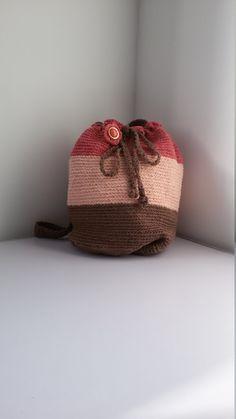 Borsa a tracolla uncinetto - borsa a sacca - borsa a secchiello - borsa da spalla di MediterraneanArt su Etsy