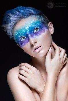 Marian Wodzisz #BLUE fantasy makeup by Dorota Makeup