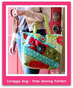 Sew a Scrappy Bag with this PDF Sewing Pattern