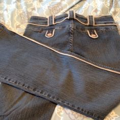 Vintage cavaricci jean 7 Cute piping  missing button you can attach Cavaricci Jeans