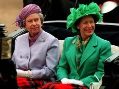 Sisters, Queen Elizabeth II, and Princess Margaret.