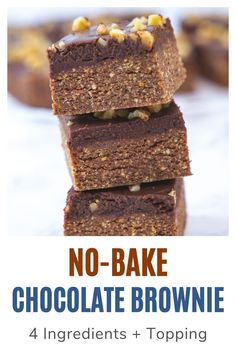 No Bake brownies will become your new favorite. They are easy to make, oh so delicious chocolatey and have the perfect chewy, fudgy texture. It requires just 15 minutes and 8 ingredients. No Bake Brownies, Chocolate Brownies, Egg Allergy, Eggless Baking, Egg Free, Brownie Recipes, 4 Ingredients, Spice Things Up, Baking Recipes