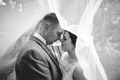 Under the wedding veil