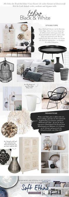 Alle lieben den Trend-Stil Ethno! Unser Favorit: die coolere Variante in Schwarzweiss- Weil der Look dadurch zeitlos, moderner und eleganter wirkt.