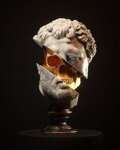 Black And Gold Aesthetic, Modelos 3d, Applis Photo, Dark Wallpaper, Surreal Art, Skull Art, Ancient Art, Aesthetic Art, Dark Art