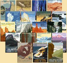 National Park Poster Set