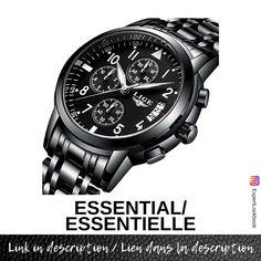 Black Watches, Watches For Men, Black Stainless Steel, Wrist Watches, Casio Watch, Quartz Watch, Mens Fashion, Business, Stuff To Buy