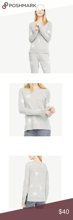 86240e20b6911 Ann Taylor Women Gray Stellar Wool Blend Sweater Ann Taylor Women s Gray  Stellar Wool Blend Sweater