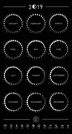 dc73624ab 11 Best Moon phase calendar images in 2019 | Witchcraft ...