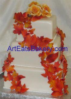 orange and yellow wedding cakes - Google Search