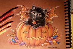 Halloween kitty by AlviaAlcedo.deviantart.com on @DeviantArt