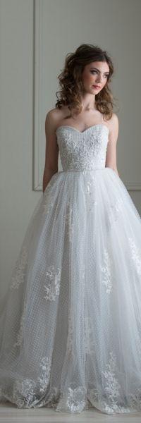 """Dotson"" Emmaline Fall 2013 Collection  Bridal Gowns, Wedding Dress, Lace, Swiss Dot"