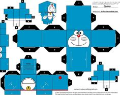 Cubeecraft Doraemon By Djuliar by Djuliar.deviantart.com on @DeviantArt