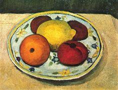 Still life with lemon, orange and tomato - Paula Modersohn-Becker