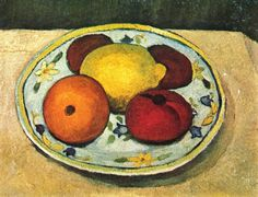 Still life with lemon, orange and tomato - Paula Modersohn-Becker