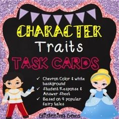 Chracter Traits : Character Traits Fairy Tale Task Card pack is perfect for when undertaking a unit on character traits, descriptive writing or fairy tales. There are a variety of character trait task cards for students to consolidate their understanding of character traits.