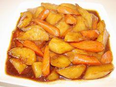 Braised daikon and carrot 素燒蘿蔔