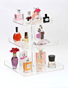 The Beauty Cube - Bella XL 3-Tier Perfume Storage Holder. #PerfumeStorage