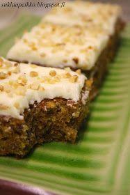 Suklaapeikon keittiössä: Maailman paras porkkanakakku Just Eat It, Meatloaf, Banana Bread, Delicious Desserts, Food And Drink, Tart, Sweets, Cooking, Recipes