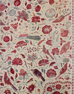 cocoroachchanel:    Palampore,Coromandel Coast, India,1720-1750 (made)