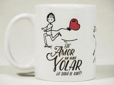 #taza #amor Tu amor me hace Volar para #él. El #regalo #perfecto - taza original para regalar en San Valentín, aniversario o cualquier ocasión especial
