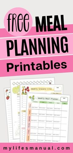 Family Meal Planner, Free Meal Planner, To Do Planner, Weekly Food Planner, Menu Planning Printable, Monthly Meal Planning, Printables, Meals For The Week, Don't Worry