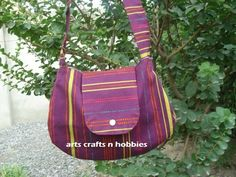 arts crafts n hobbies: Easy sholder bag tutorial