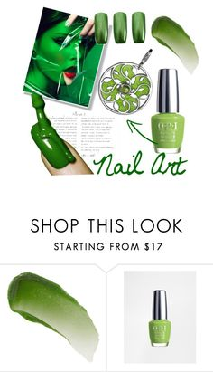 """""""Green anguish"""" by ledile on Polyvore featuring косметика, Lipstick Queen и OPI"""