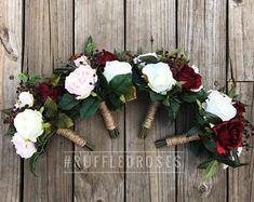 Image result for blush burgundy bouquet