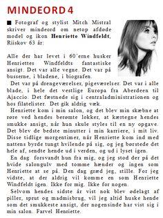 Mindeord 4: Henriette Windfeldt - www.thomasladegaard.dk