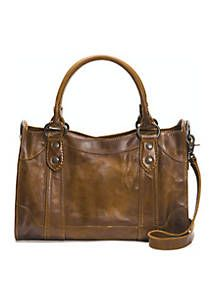 Made from beautiful pull up leather with Frye signature Melissa buttons, this satchel is perfect. That kind of carryall that gets even better with age. Cheap Purses, Cute Purses, Large Purses, Leather Satchel, Leather Purses, Leather Bags, Louis Vuitton Bags, Designer Leather Handbags, Luxury Handbags
