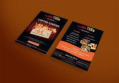 #creation graphique d'un #flyer pour Me Gusta Tapas #restaurant de #tapas à Béziers, mettant en avant une #offre #cinema ! www.l-imaginee.com