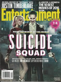 Entertainment Weekly magazine Suicide Squad Jared Leto  Justin Timberlake