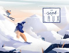 Dahu des Neiges illustrations by Tristan Gion and Jean-Baptiste Le Berre. Simple Illustration, Graphic Design Illustration, Digital Illustration, Identity, Branding, Image Makers, Work Inspiration, Illustrations And Posters, Vector Art