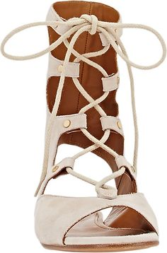 17d1b3dbf64c6c Chloé Lace-Up Gladiator Sandals - Flats - Barneys.com Lace Up Gladiator  Sandals