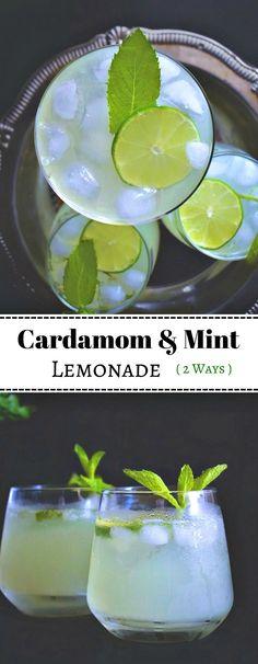 Cardamom and Mint Lemonade: #cardamom #lemonade #mint