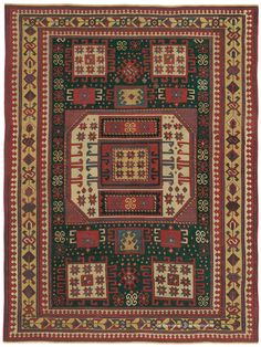 KARACHOV KAZAK, Southern Central Caucasian (SOLD) 6ft 0in x 7ft 10in Circa 1850 http://gallery.claremontrug.com/gallery/?p=1