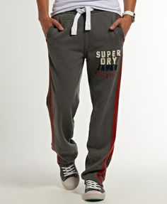 Shop Superdry Mens Applique Fives Joggers in Charcoal Marl. Buy now with  free delivery from the Official Superdry Store.